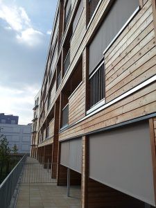 cladding on the exterior of a building